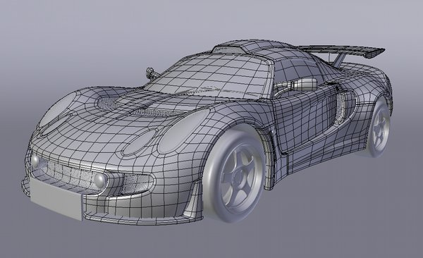 Lotus Exige wireframe 01