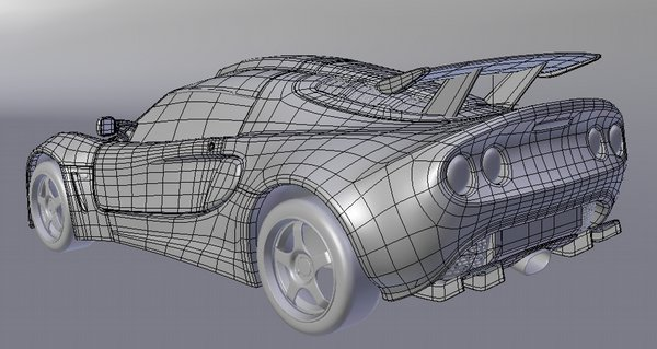 Lotus Exige wireframe 02