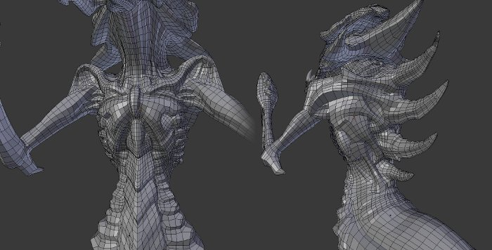 Hydralisk body retopology